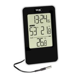 Termoigrometro Digitale IN/OUT con sonda e orario TFA