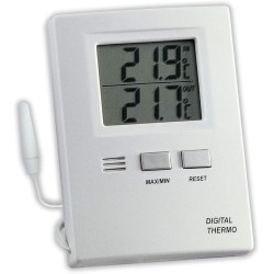 Digital indoor-outdoor thermometer with...
