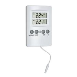 Termometro Digitale IN/OUT con sonda, doppio display e ALLARME TFA