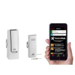 Kit Trasmettitore + Termometro con sonda per APP WeatherHub TFA